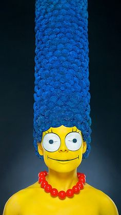Marge Simpson Realistic Make-up
