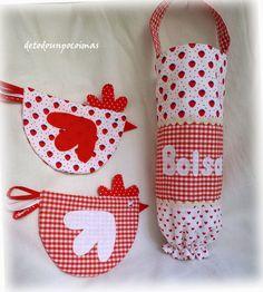 Os dije que os enseñaría los otros dos conjuntos que hice para Mónica... pues éste es el de tonos rojos. Ella eligió la combinación de telas...