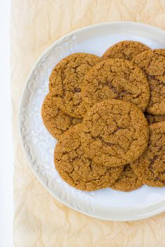 Grain-Free Chewy Molasses Crinkle Cookies {Dairy