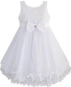 2014 Girl Dress White Rose Flower Bow Lace Party Wedding Pageant Bridesmaid  Princess Child Kids. Wedding Dresses For ... b14b19a06e41