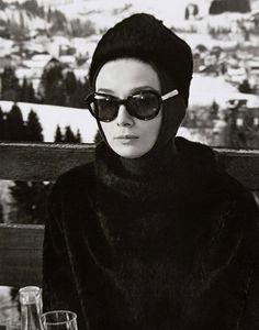 """Everyone should dress like this at a ski resort. Audrey Hepburn, """"Charade."""""""