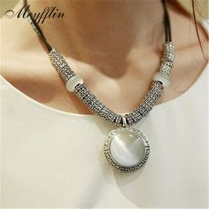 Aliexpress.com : Buy Collares 2017 Fashion Opal Statement Necklaces & Pendants Women Vintage Accessories Collier Femme Leather Jewelry Bijoux Colar from Reliable choker jewelry suppliers on Meyfflin Official Store