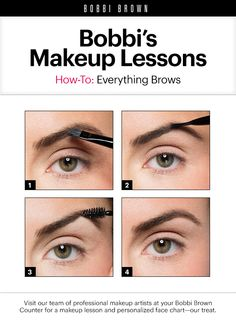 Bobbi Brown Makeup Lessons: Everything Browsing Bobbi Brown, Love Makeup, Makeup Tips, Hair Makeup, Gel Eyeliner, Eyeshadow, Beauty Make Up, Hair Beauty, Beauty Secrets