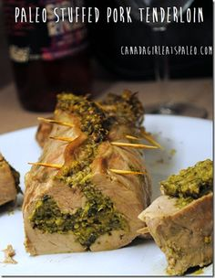 #paleo stuffed pork tenderloin