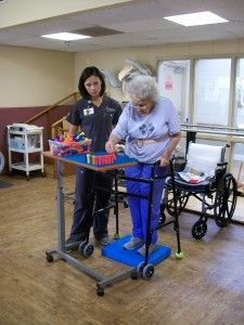 Dynamic Standing Balance - Note: foam pad, walker, w/c, reaching activity
