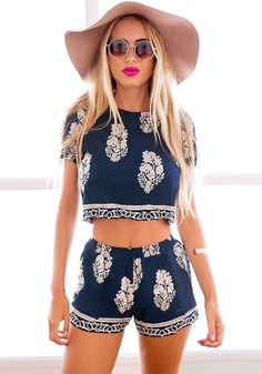 How cute is this matching 2 piece set?! Perfect for casual summer days only $14.18 CASUAL DRESSES http://amzn.to/2l55mII