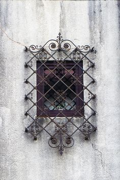 Barred oriental styled window
