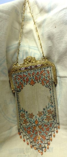 Vintage Art Deco 1920s Mesh Purse by SylviasFinds on Etsy, $125.00