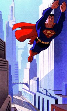 Superman: The Animated Series by Bruce Timm Superman And Lois Lane, Superman Family, Dc Heroes, Comic Book Heroes, Comic Books, Bruce Timm, Clark Kent, Superman The Animated Series, Mundo Superman