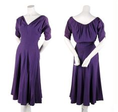 A Claire McCardell Purple Wool Knit Dress, love love love this design