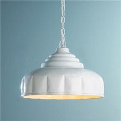 Scalloped Dome Pendant Light