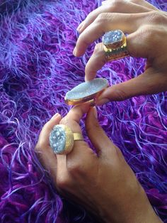 Amethyst rings on www.iamzu.com