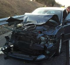 One of our customer's cars, crashed in Central PA...walked away from the accident un-harmed. Came to buy their next Volvo from us the following day. www.lehmanvolvo.com