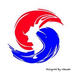 [Design] 한반도 모양의 태극마크 Sushi Logo, Political Art, Taekwondo, Korea, Symbols, Peace, Culture, Logos, Illustration