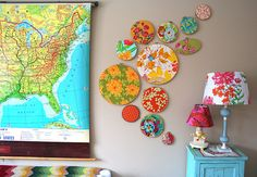 Why can't I ever find fabrics like this?  Love all the color...love the map.