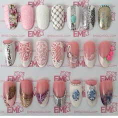 In search for some nail designs and ideas for your nails? Listed here is our list of 35 must-try coffin acrylic nails for stylish women. Glitter Nail Art, 3d Nail Art, 3d Nails, Nail Arts, Acrylic Nails, Beautiful Nail Designs, Beautiful Nail Art, Nail Art Wheel, Vintage Nails