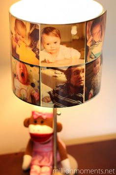 Brilliant: Lampshade made from Instagram photos for a nursery