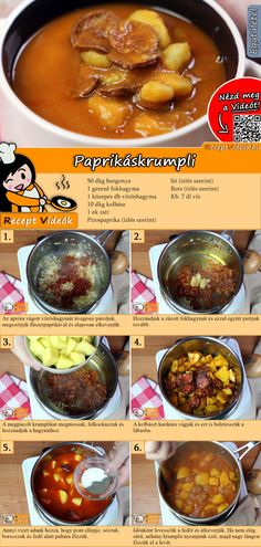 Bell pepper potatoes recipe with video - quick recipes / simple dishes - Eintopf/ Suppe - Healthy Meals To Cook, Healthy Cooking, Healthy Recipes, Quick Recipes, Sausage Recipes, Potato Recipes, Benefits Of Potatoes, Hungarian Recipes, Hungarian Food