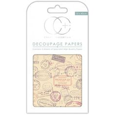 Papeles decoupage Travel stamps