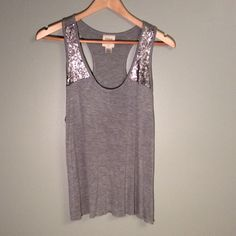 Sequin tank Closet Rules: No Holds or Trades Same Day or Next Day Shipping All Items are in Gently Used Condition Unless Stated Otherwise Neon Soul Tops