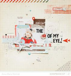 The apple of my eye. by ania-maria at Studio Calico using the Block Party scrapbook kit and add ons