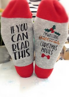 Unisex Crew socks 35 Cotton, 60 Polyester, 5 Spandex Graphic reads Im Watching Hallmark Christmas Movies Machine wash Wash separately, do not soak for a long time Package: 1 Pair Socks Hallmark Christmas Movies, Hallmark Movies, Christmas Time, Christmas Crafts, Christmas Decorations, Christmas Outfits, Merry Christmas, Good Christmas Gifts, Christmas Shopping