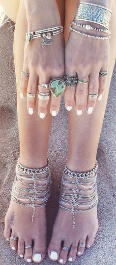 Para quem ama acessórios com a pegada #gypsy! #boho #rings #accessories