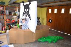 Bateau de pirate en carton - DIY