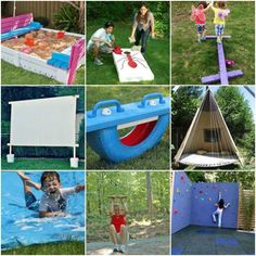 Absolutely fabulous outdoor play equipment that parents can make for their kids to keep them active, entertained, and enjoying the great outdoors.