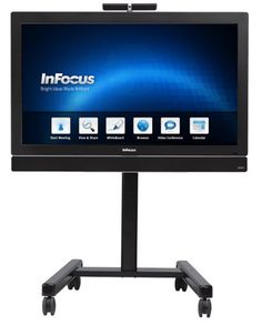Shown is InFocus's Mondopad 55-inch HD wall tablet with touch collaboration apps and Vidtel's cloud-based video conferencing. #touchscreen
