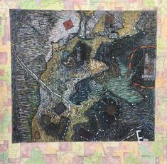 Map of a World ©1980-1984 LSAuth. Collagraph, collage, acrylic.