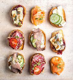 5 verschillende broodjes, in 5 minuten klaar