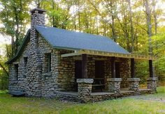 41 Awesome Tiny Stone Cottage Interior and Exterior Design Ideas - Page 20 of 43 Stone Cottages, Cabins And Cottages, Stone Houses, Cottage Interiors, Cottage Homes, Cottage Art, Modern Cottage, Lake Cottage, Cozy Cottage