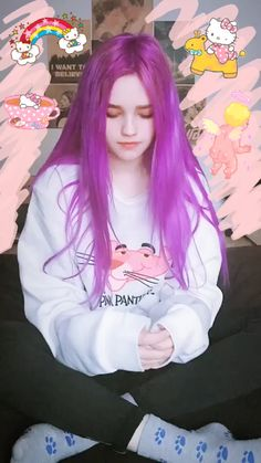 Aesthetic People, Aesthetic Girl, Pastel Hair, Purple Hair, Pretty People, Beautiful People, Kylie Hair, Fantasy Hair, Tumblr Girls