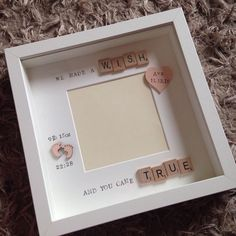 We made a wish and you came true.. by ScrabulousFrames on Etsy