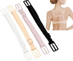 CAKYE® Women's 4Pcs Non-slip Elastic Bra Strap Holder (4 Color)