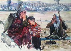 Iraqi art by Adel Askar depict the suffering of Iraqi refugees