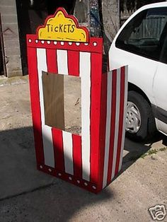 how to make a fair booth from a refrigerator box - Google Search