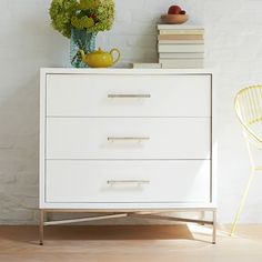 City Storage 3-Drawer Dresser - White | West Elm   699    and 33""