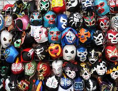 Mexican Wrestling masks will probably be a major part of the aesthetic for this work.