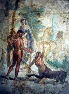 *POMPEII, ITALY ~ Hercules, Nessus & Deianira. House of the Centaur,
