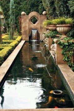 Kau pond with fountain