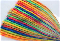 Single ended dread extensions - rainbow dreads - set of 20