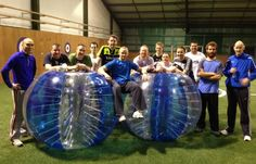 Bubble Football, Cork  Bubble Football is quite simply a game of football while wearing giant inflatable 'ball' suits!