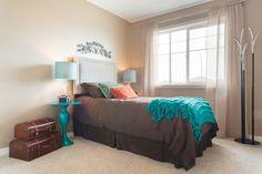 The perfect colour palette! Oak Park, New Home Builders, New Homes, Palette, Colour, Bed, Furniture, Home Decor, Color