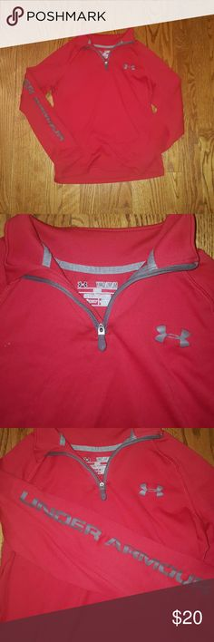 Boys red Under Armour pullover size youth medium Boys red Under Armour loose pullover. Size youth medium. Excellent condirion! Under Armour Shirts & Tops Sweatshirts & Hoodies
