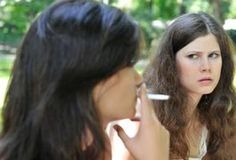 When you smoke a cigarette indoors, you expose yourself and everyone around you to secondhand smoke, thirdhand smoke and an increased risk of fire. Secondhand smoke includes smoke from the end of the burning cigarette, called sidestream smoke, and smoke exhaled by the smoker, called mainstream smoke. Thirdhand smoke is the name given to the toxic...