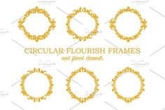 Circular Flourish Frames by Vectalex on @creativemarket #floral #frame #vintage #vector #background #elegant #christmas #card #border #illustration #greeting #round #decoration #design #template #retro #ornament #postcard #element #decor #ornate #wedding #invitation #art #pattern #graphic #flower #leaf #decorative #circular #circle #motif #logo #wallpaper #oriental #royal #flourish #swirl #filigree #scroll #vignette #curl #elegance #classical #baroque #victorian #old #antique #banner…