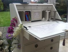 Paris Grey Painted Bureau. I wanted to keep this one