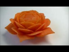 Orange Rose Flower From Carrot - Advanced Lesson 11 By Mutita Art Of Fruit And Vegetable Carving - YouTube